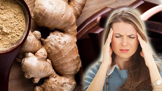 Uống gừng giúp cải thiện đau đầu do viêm xoang